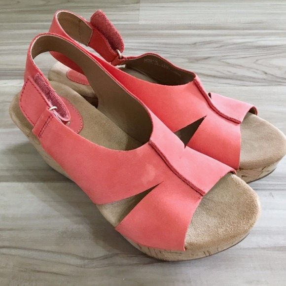 26109b0ec94 Clarks Shoes - CLARKS Caslynn Lizzie Wedge Red Sandals